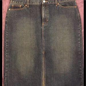 Gap Denim Skirt Modest Plus Size 16